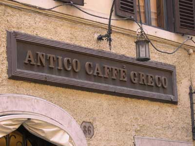caffè greco great italy
