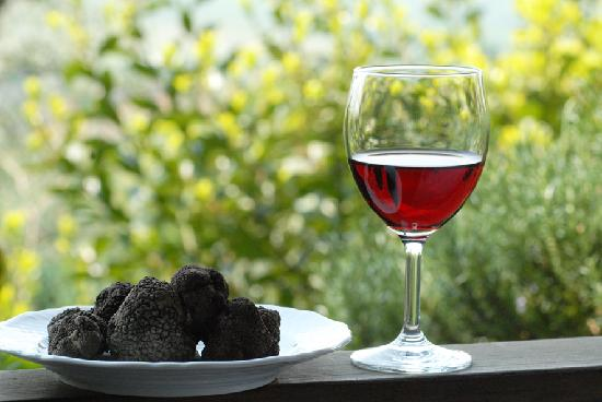 Italian truffle and red wine