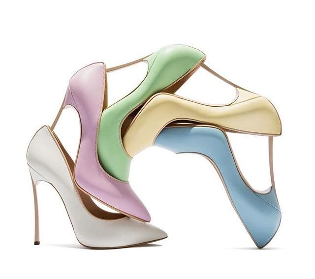 Pastel shades shoes Italian Lifestyle