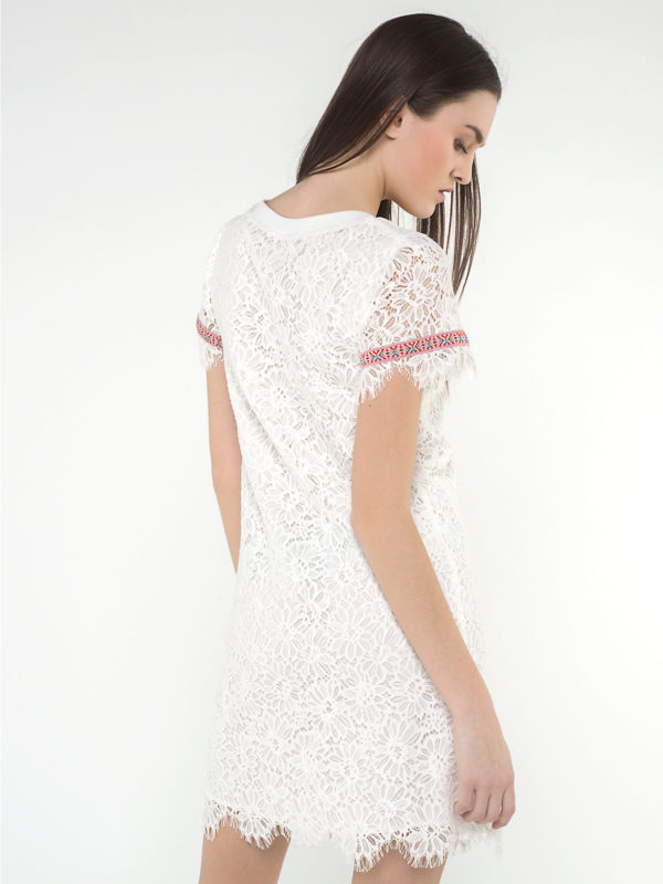 macramé white dress