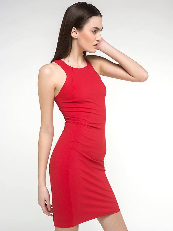 red smart dress