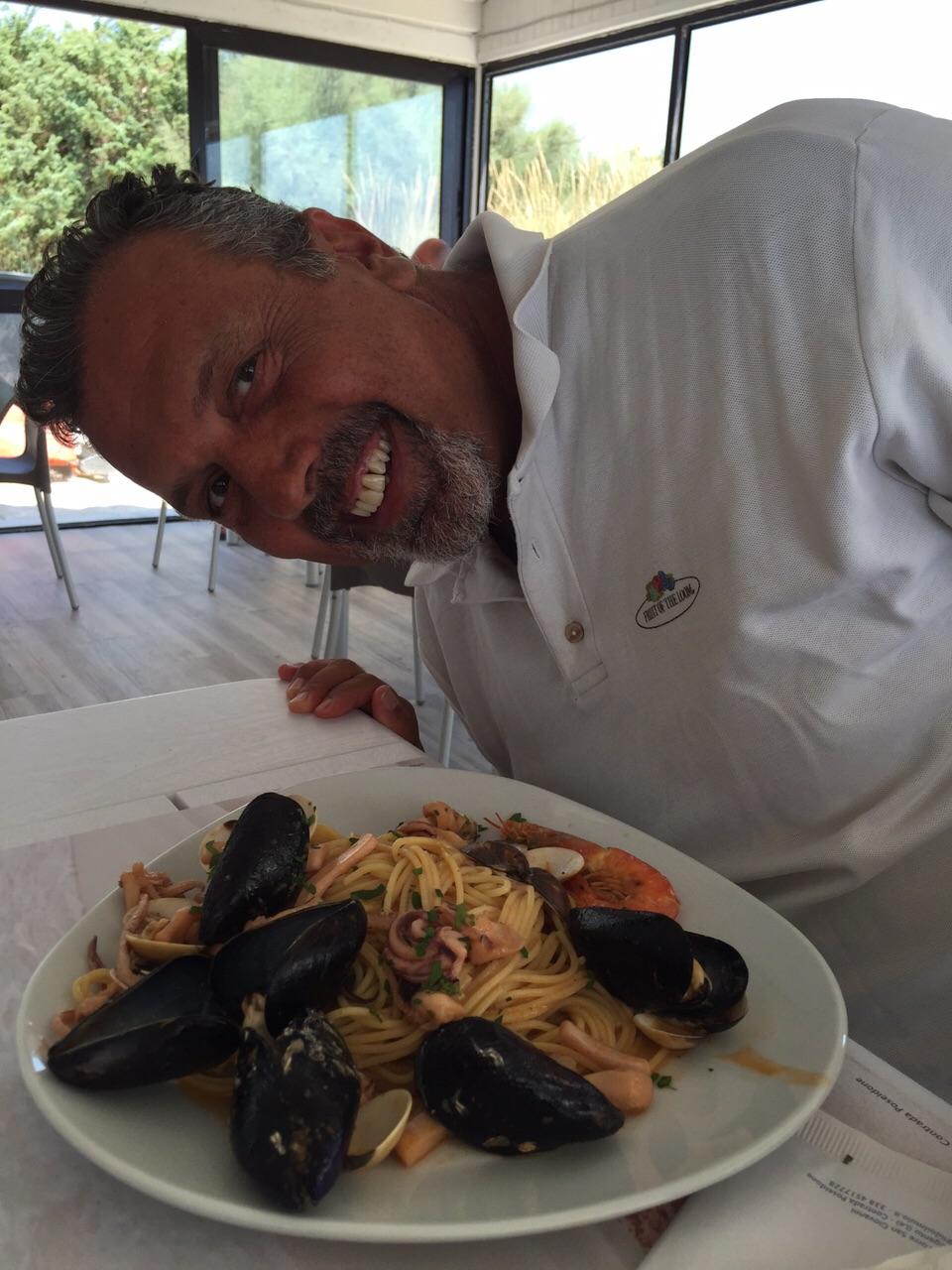 Spaghetti sea fruits