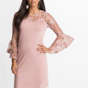 Lovely women's dress with three-quarter lenght lace sleeves. Buy your stunning dress styles for party.