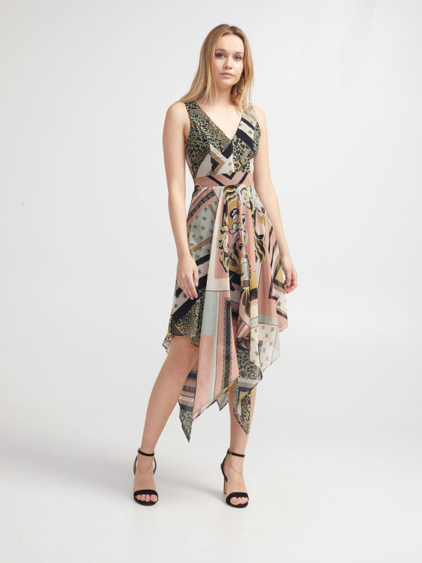 official site highly coveted range of delicate colors Asymmetrical Woman's dress Spring Summer 2019